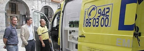 La primera ambulancia ecológica de Cantabria llega a Castro.