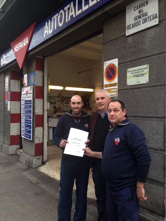 Autotaller Hispania, taller colaborador de Gasmocion con la certificación ISO 9001 de Calidad