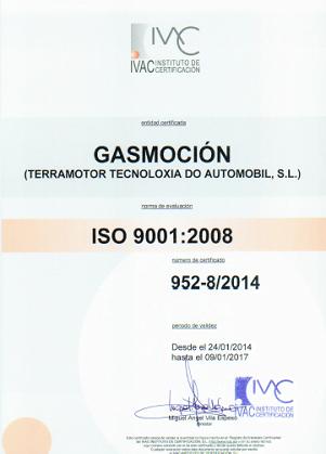 Terramotor Tecnoloxia do Automobil S.L., taller colaborador de Gasmocion con la certificación ISO 9001 de Calidad