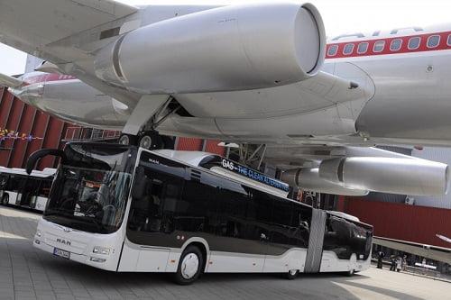 El autobús articulado GNC de Man, elegido Bus of the Year 2015