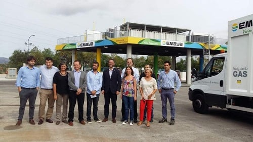 Emaya presenta la nueva gasolinera de Son Pacs, para el abastecimiento de los vehículos a gas natural GNC