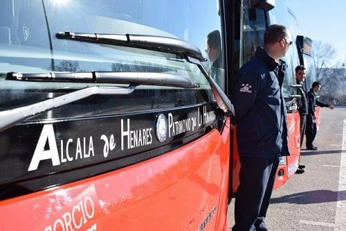 Alcalá incorpora cinco nuevos autobuses con GNC más ecológicos y silenciosos a su flota urbana