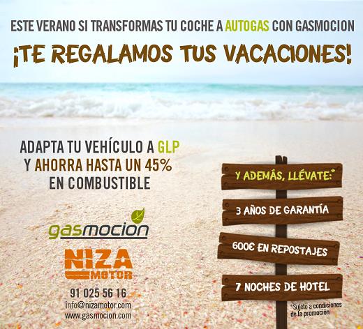 Transforma tu vehículo a autogas GLP con Niza Motor y disfruta de 3 años de garantía, 600€ de descuento en repostajes y además, te regalamos tus vacaciones