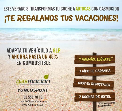 Transforma tu vehículo a autogas GLP con Yuncosport y disfruta de 3 años de garantía, 600€ de descuento en repostajes y además, te regalamos tus vacaciones