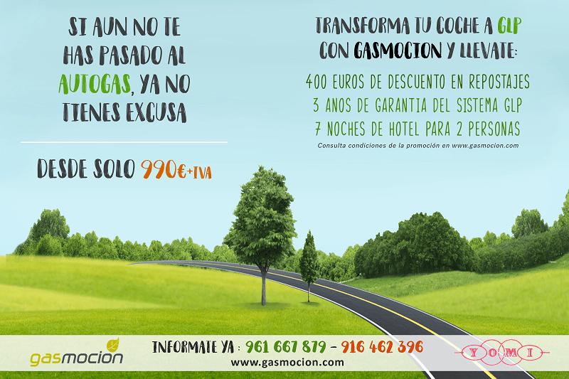 Promoción: Pásate al autogas con Gasmocion y Talleres Yomi