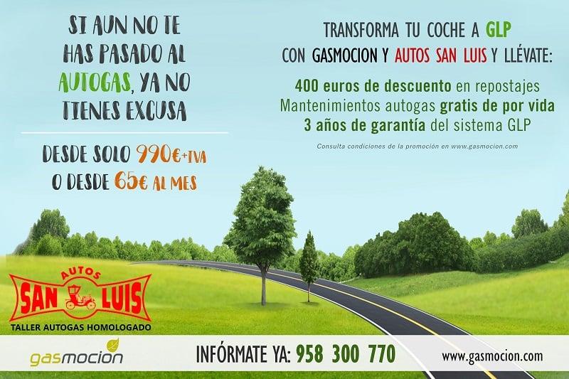 Promoción: Pásate al autogas con Gasmocion y Autos San Luis